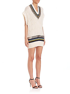 Studded Cricket Sweater Dress