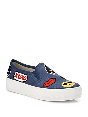 Pia Emoji Slip-On Sneakers