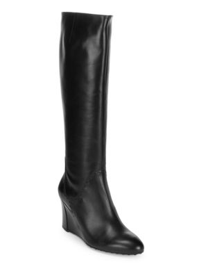 Leather Knee-High Boots Tod's