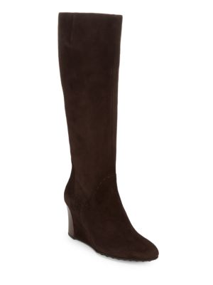 Leather Wedge Boots Tod's