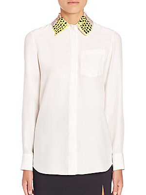 Chika Paillette Collar Blouse