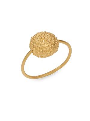Goldtone Ball Pendant Ring