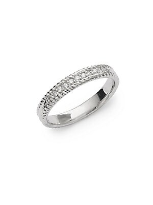 Click here for Stack 14K White Diamond and 14K Gold Ring prices