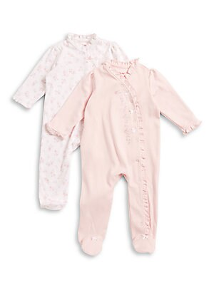 Baby's Two-Pack Floral Footie Set