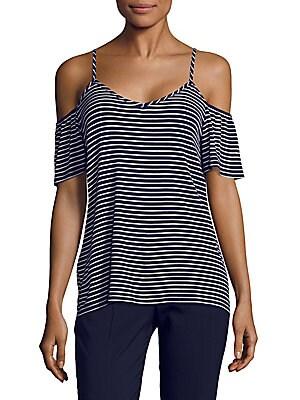 Waverly Stripe Cold Shoulder Top