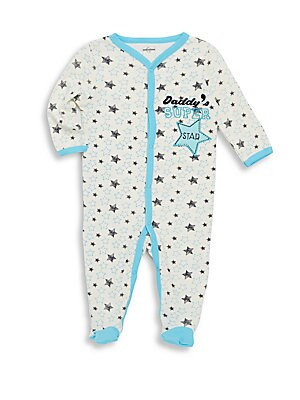Baby's Super Star Print Cotton Footie