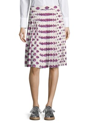 Gonna Sable Printed Pleated Skirt