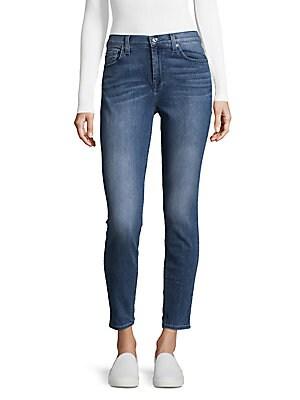 High Waist Ankle-Cut Jeans