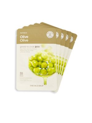 Five-Pack Olive Extract Face Mask Set The Face Shop