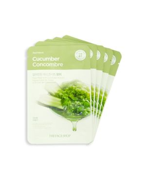 Five-Piece Cucumber Face Mask Set The Face Shop