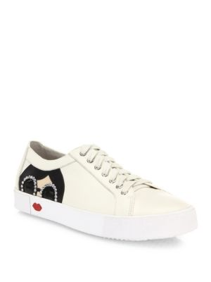 Stace Taylor Leather Sneakers Alice   Olivia