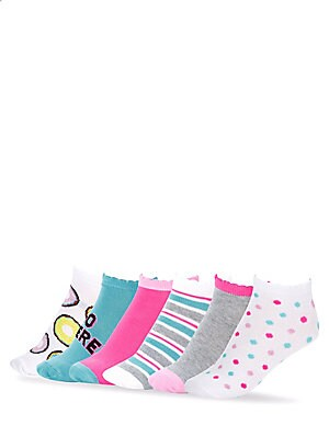 Donut Go There No-Show Socks/ Set of 6