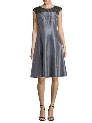 Kristen Silk A-Line Dress