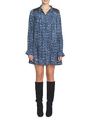 Emily Pleated Tieneck Shirtdress