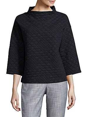 Patterned Cotton-Blend Pullover