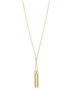 Click here for 14K Yellow Gold Tassel Necklace prices