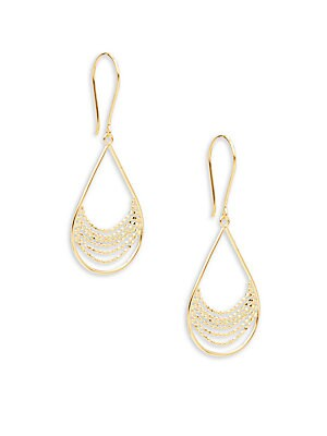 Click here for 14K Yellow Gold Beaded Drop Earrings prices