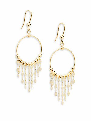 Click here for 14K Yellow Gold Chandelier Earrings prices
