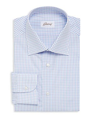 Gingham Long Sleeve Dress Shirt