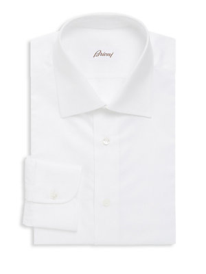 Plain White Long Sleeve Dress Shirt