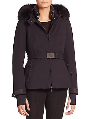 Bauges Fur Trim Hooded Coat