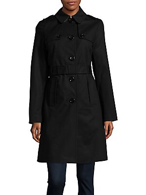 Buttoned Trench Coat