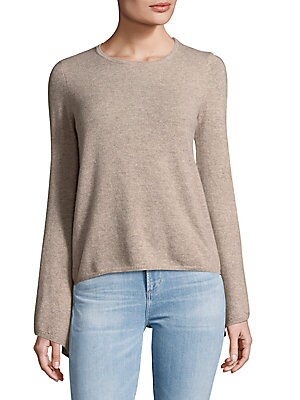 Long Drape Flare Sleeves Cashmere Sweater