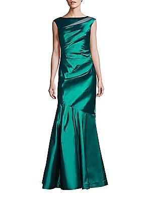 Sheer Inset Mermaid Gown