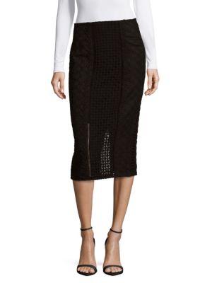 Lace Crochet Pencil Skirt