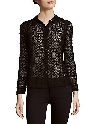 Long Sleeve Lace Cotton Top