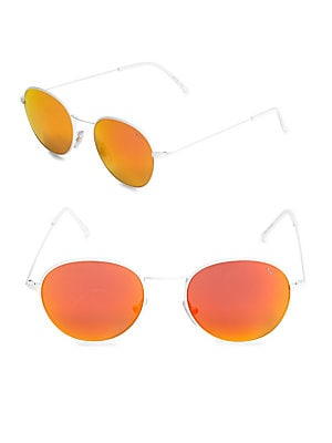 Wire Reflector 48MM Round Sunglasses