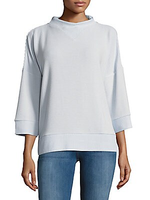 Solid Ribbed Pullover