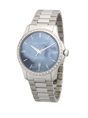 SILVERTONE MOTHER-OF-PEARL DIAL WATCH