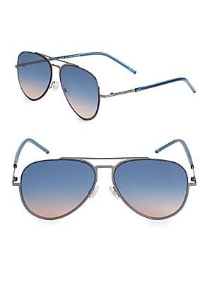 marc jacobs female 56mm aviator sunglasses