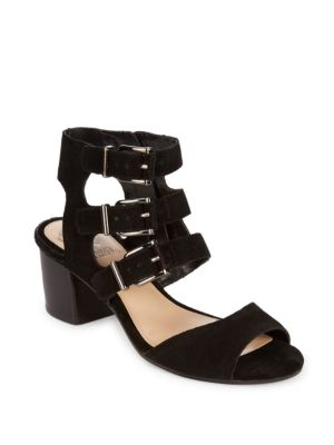 Geriann Leather Midheel Sandals