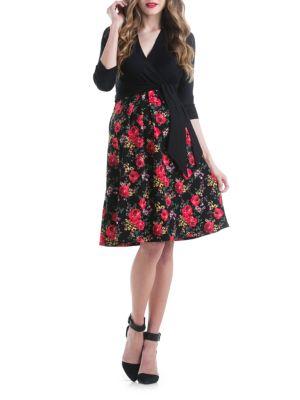 Maternity Abby Floral Knee-Length Dress LILAC MATERNITY