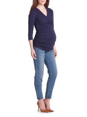 Maternity Michelle Surplice Top LILAC MATERNITY