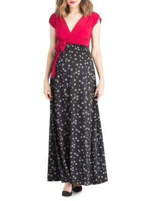 Maternity Polka Dot Maxi Dress LILAC MATERNITY