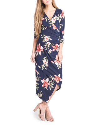 Maternity Carly Floral Midi Dress LILAC MATERNITY