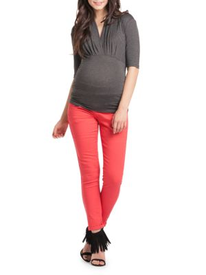 Maternity Megan Surplice Top LILAC MATERNITY