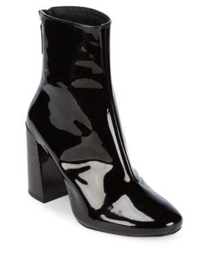 Patent Leather Booties Pure Navy