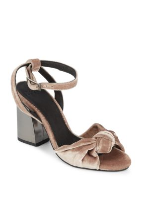 Suede Block Heel Sandals ALEX ALEX