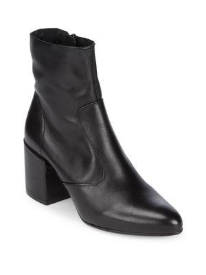 Zip Leather Booties Saks Fifth Avenue