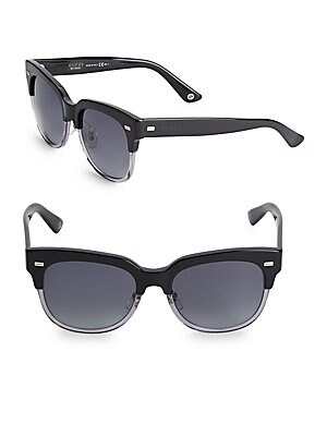 Saddle 54MM Clubmaster Sunglasses