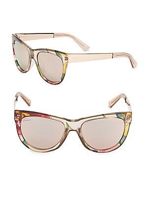 55MM, Cat Eye Sunglasses