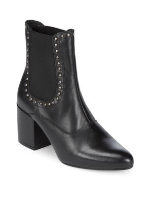 Embellished Tumbled Leather Chelsea Boots Saks Fifth Avenue