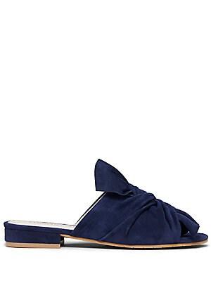 Violet Suede Slide Sandals