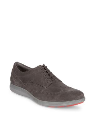 Grand Tour Wing-Tip Leather Shoes Cole Haan