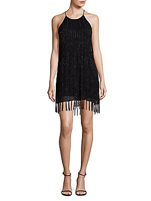 Sanibel Beaded Fringe Hem Dress