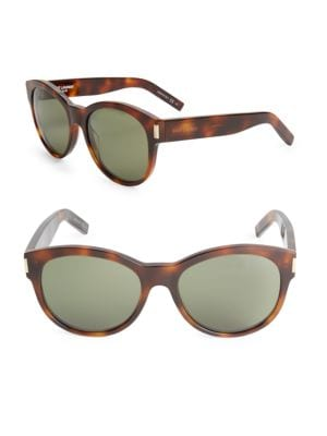 de7b96bc06d SAINT LAURENT 54MM TORTOISESHELL SUNGLASSES, LIGHT HAVANA
